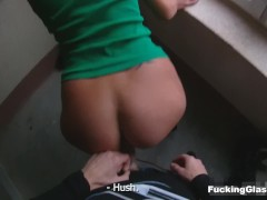 Fucking Glasses - Spontaneous top-floor fucking