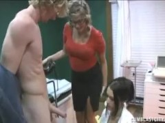 Handjob at the doctor's office