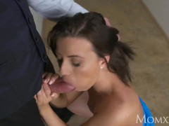 MOM Blind Date and hot fuck on the st...