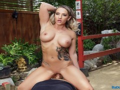BaDoink VR Public Sex With Busty Cali Carter VR Porn