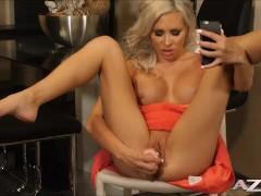 Kacey jordans 1st Video after her boob job skyping her boyfriend