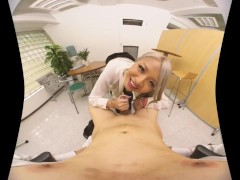 Beautiful erotic office lady Japanese VR Porn