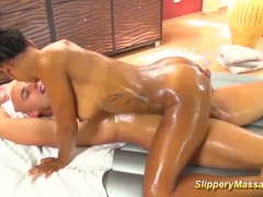 Isabella Chrystin gives nuru massage on big cock