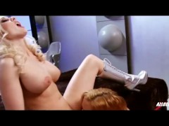 Hot Lesbians Krissy Lynn and Christie Stevens in Intergalactic Swingers