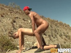 Mickey Taylor has anal fuck fest with Jack Ashley outdoors