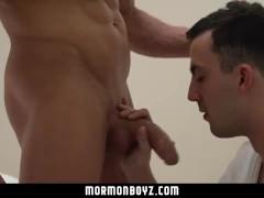 Mormonboyz - Boy takes a huge cock bareback in a secret Mormon ritual