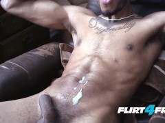 Eric Buck Feels His Muscles and Big Black Cock
