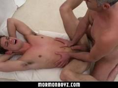 Mormonboyz - Mormon boy spitroast during ritual threesome