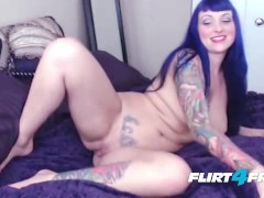 Tatted Babe Violet Agony Orgasms With a Squirting Pussy