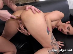 Simplyanal - Gabriela Gucci and Katy Rose tease their asses in lesbian anal toy play