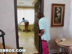 : BANGBROS - Stepmom threesome with the Latina maid Abby Lee Brazil