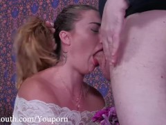 Hot PAWG, Kat Monroe, get a brutal facefucking, rimjob punishment