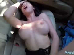 Public Agent Sexy Tourist Gets Multiple Orgasms in Car