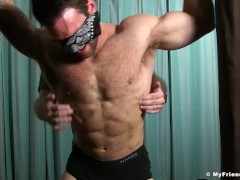 Sean Holmes and Chase Lachance separately receive tickling