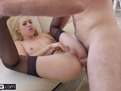BANG Gonzo: Lyra Law Hot Blonde Has Her Tight asshole stretched