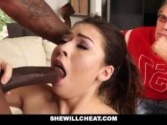 SheWillCheat- Cuckold Hubby Watches Hot Wife Fuck BBC