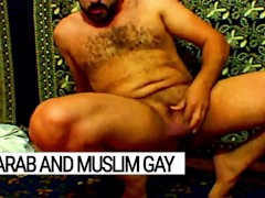 Arab gay vicious, muslim Libyan jerking off and cumming on prayer carpet after islamic devotion