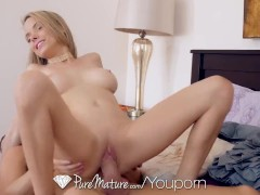PureMature Busty MILF Pristine Edge fuck and facial before wedding festivities