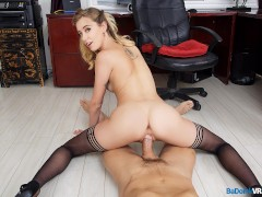 BaDoinkVR.com POV Office Fuck With Hot Blonde Haley Reed