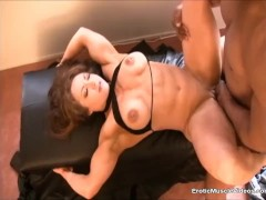 EroticMuscleVideos - Cuckold poker bet gets BrandiMae fucked by BBC