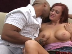 Busty Mom gets her first big black cock