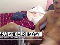 Tasting a cup of arab gay oriental cum. Enjoy Bassel's dick neverending flow