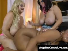 Curvy BBWs Angelina Castro Sam 38GG & Kristi Maxxx Fuck Good