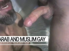 Arab gay macho stud finds & pleases his master. Djamel blows and swallows it all