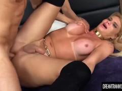 Blond Transsexual Bruna Gaucha Fucks a Guys Ass After He Fucks Hers