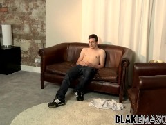 Mason Lucas plays with his fat boner and sprays cum