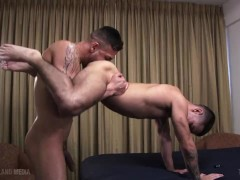 Monster cock latin daddy breeds his twinky son