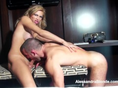 Alessandra Blonde sucking cock and getting sucked.