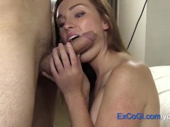 Fun Redhead Amateur Hotel Suck, Fuck and Cum Facial