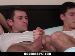 MormonBoyz - Young hung missionary roommates fuck each other raw