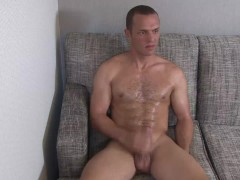 ActiveDuty Str8 Cutie Tyler Marshall Oils Up His Cock & Beats It!