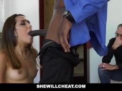 SheWillCheat -  Petite Latina Wife Fucks BBC