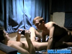 Krys and Brice barebacking hard and riding dick in a van