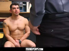 YoungPerps - Sexy jock stud takes raw cock up ass to avoid jail time