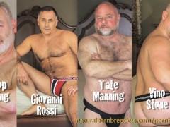 Raw Furry 4-Way Giovanni Rossi, Bishop Sterling, Tate Manning & Vino Stone