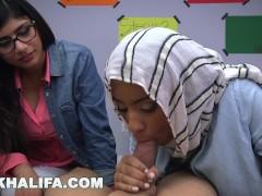 MIA KHALIFA - Arab Expert Cock Sucker Gives Friend Blowjob Lessons