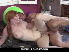 SheWillCheat - Cheating Ginger Wife  Fucked By Personal Trainer