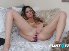Flirt4Free Model Whitnee James - Long Haired Blonde Dives in Both Holes