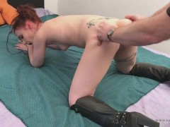 034b - Hard spanking torture moment