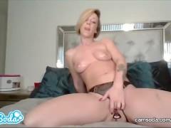 Jada Stevens masturbates in her bedroom.