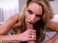 Throated Stacked Blondie is Choking That Dick Down!