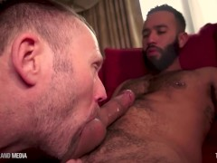 British daddy servicing thick black dick