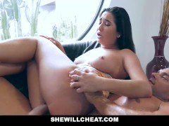 SheWillCheat - Horny Wife Plowed by Trainer