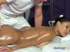 Massage Rooms Big natural tits brunette creampied