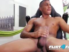 Flirt4Free Model Tato Gari - Blatino Hunk Gives His BBC Some Self Love