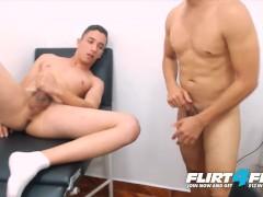Flirt4Free Models Ben and Mike - Sexy Latino Couple Bareback and Take Turns Cumming